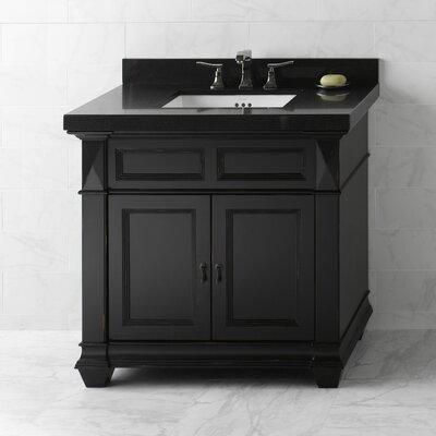 Torino 36 Bathroom Vanity Cabinet Base in Antique Black