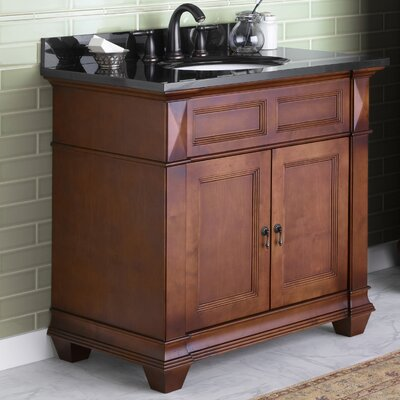 Torino 36 Bathroom Vanity Cabinet Base in Colonial Cherry
