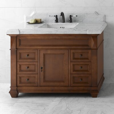 Torino 48 Single Bathroom Vanity Base Finish: Colonial Cherry