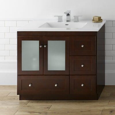Shaker 36 Bathroom Vanity in Dark Cherry