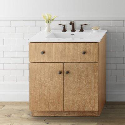 Amberlyn 30 Bathroom Vanity Cabinet Base in Vintage Honey