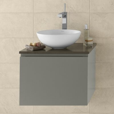 Ariella 23 Wall Mount Bathroom Vanity Base Cabinet in Slate Gray