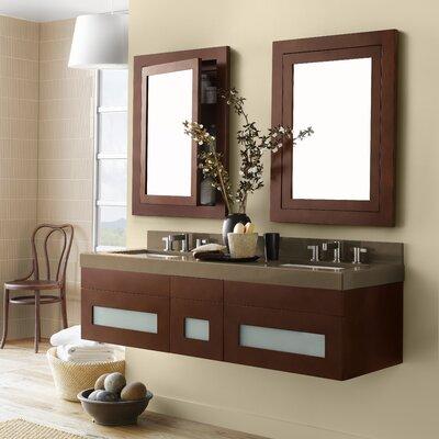 Rebecca 23 Double Wall Mount Bathroom Vanity Base Cabinet