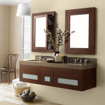 Rebecca 58 Double Wall Mount Bathroom Vanity Set