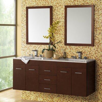 Bella 61 Double Wall Mount Bathroom Vanity Set