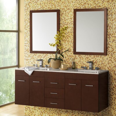 Bella 64 Double Wall Mount Bathroom Vanity