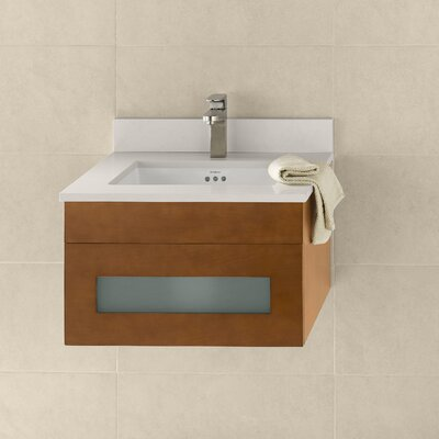 Morrison 23 Wall Mount Bathroom Vanity Base Cabinet in Cinnamon