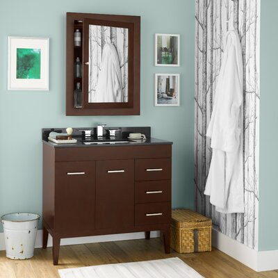 Venus 36 Single Bathroom Vanity Set with Mirror