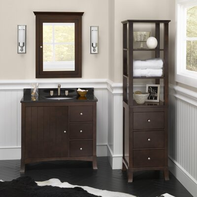 Hampton 36 Single Bathroom Vanity Set with Mirror