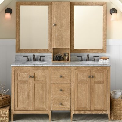 Briella 60 Double Bathroom Vanity Set