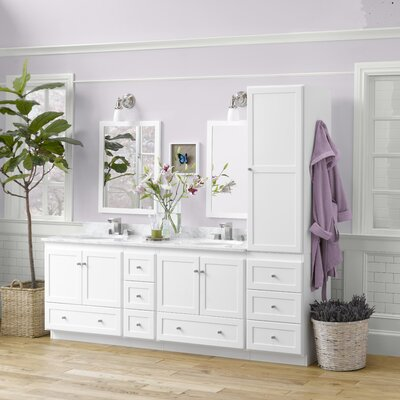 Shaker 90 Double Bathroom Vanity Set