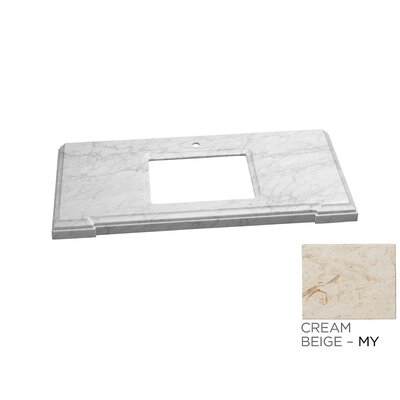 Torino 37 Single Bathroom Vanity Top Top Finish: Cream White Marble