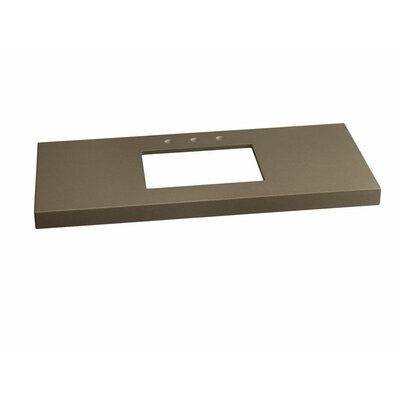 Wide Appeal� Undermount 36 Single Bathroom Vanity Top Finish: Stone Gray, Faucet Mount: 8 Widespread