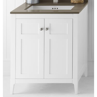 Briella Wood Cabinet Vanity Base Base Finish: White