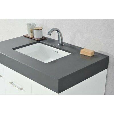 Wide Appeal Undermount 36 Single Bathroom Vanity Top Faucet Mount: Single, Finish: Stone Gray