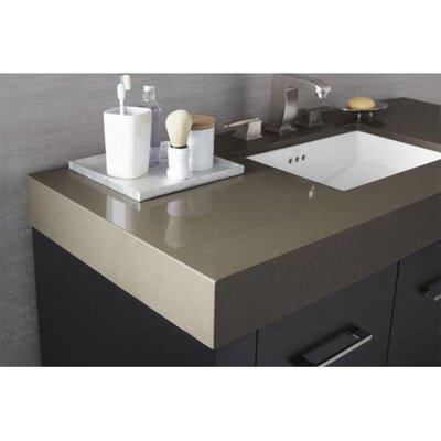 Wide Appeal Undermount 36 Single Bathroom Vanity Top Finish: Grand Green, Faucet Mount: Single