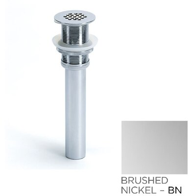 Permanently Open 2.63 Grid Shower Drain With Overflow