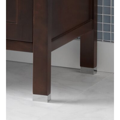 3/4 Metal Feet for the Juno or Minerva Bathroom Vanity Collection in Polished Chrome