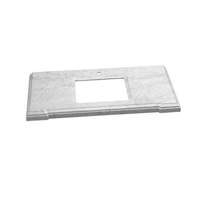 Torino Undermount Sink Cutout 31 Single Bathroom Vanity Top Top Finish: Carrara White