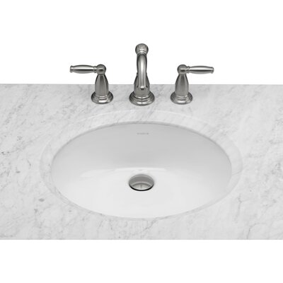 Cheap Oval Ceramic Undermount Bathroom Sink in White for sale