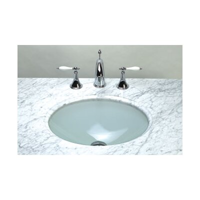 Undermount Oval Glass Vessel Sink