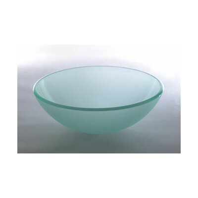 Vessel Sink with Tempered Glass