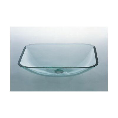 Rectangular Vessel Sink with Tempered Glass
