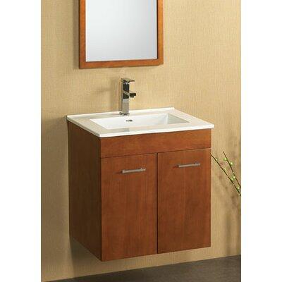 Bella 23 Wall Mount Bathroom Vanity Base Cabinet in White