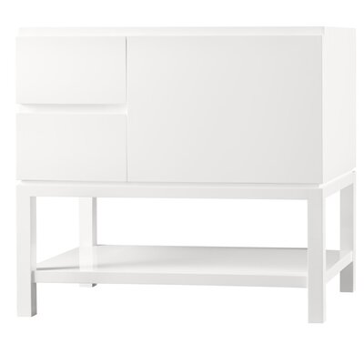 Contempo Chloe Wood Cabinet Vanity Blush Taupe Base