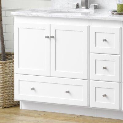 Shaker 30 Bathroom Vanity Cabinet Base in White - Wood Doors