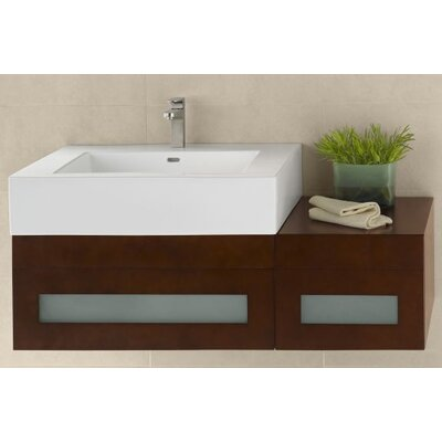 Rebecca 31 Single Bathroom Vanity Base Base Finish: Dark Cherry