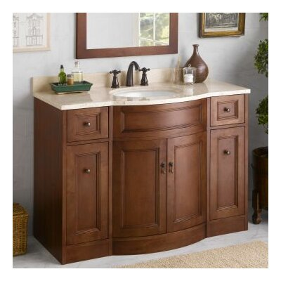 Marcello 48 Single Bathroom Vanity Base Finish: Colonial Cherry