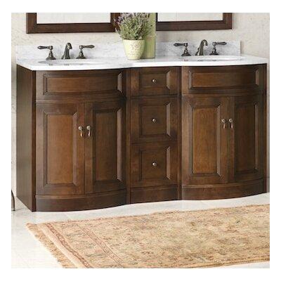 Marcello 24 Bathroom Vanity Cabinet Base in Caf Walnut