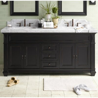 Torino 72 Bathroom Vanity Cabinet Base in Antique Black