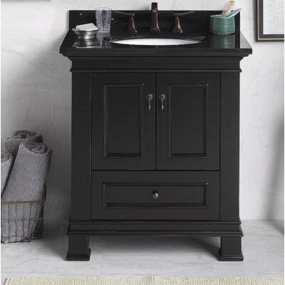 Venice 30 Bathroom Vanity Cabinet Base in Antique Black