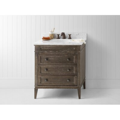 Laurel 30? Single Bathroom Vanity Set Top Finish: White