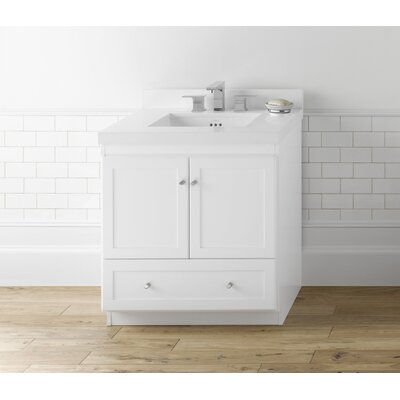 Shaker 30 Single Bathroom Vanity Set Top Finish: White