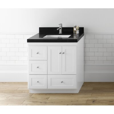 Shaker? 30 Single Bathroom Vanity Set Top Finish: Black