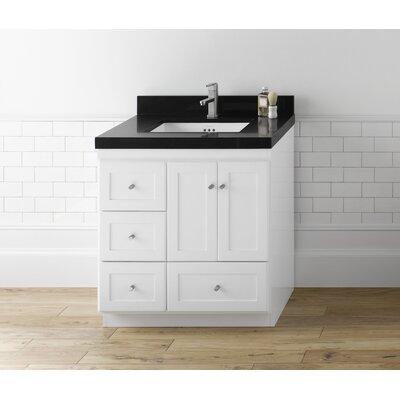 Shaker 30 Single Bathroom Vanity Set Top Finish: Black