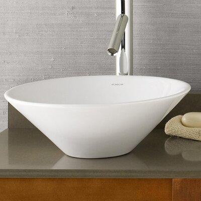 Geometric Ceramic Circular Vessel Bathroom Sink