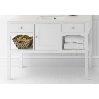 Langley 48 Single Bathroom Vanity Base Base Finish: White