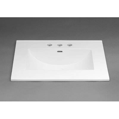 Kara 31 Single Bathroom Vanity Top Top Finish: White, Faucet Mount: 8 Centers