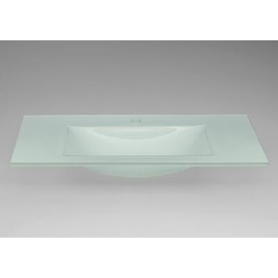 24 Single Bathroom Vanity Top Top Finish: Obscure Glass