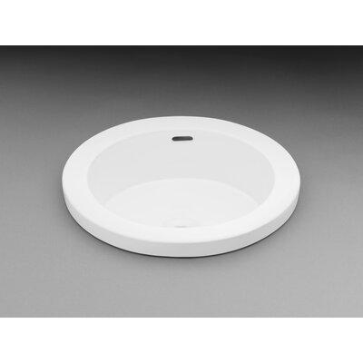 Round Semi Recessed Ceramic Recessed Self Rimming Bathroom Sink