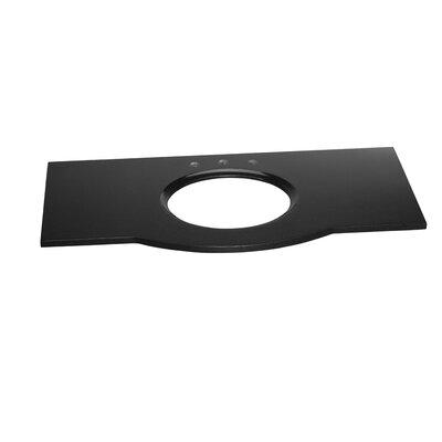 Marcello Undermount Sink Cutout 49 Single Bathroom Vanity Top Top Finish: Absolute Black