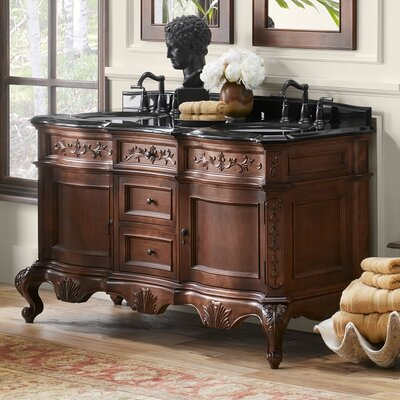 Bordeaux 60 Double Bathroom Vanity Base