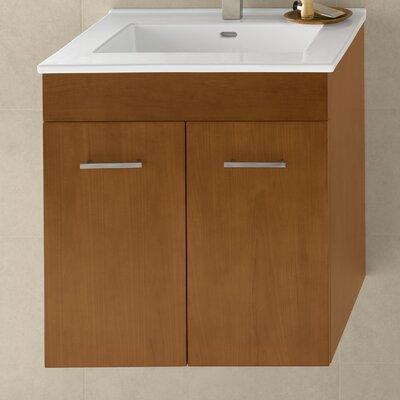 Bella 23 Wall Mount Bathroom Vanity Base Cabinet in Cinnamon