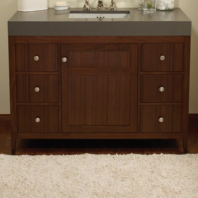 Briella 48 Bathroom Vanity Cabinet Base in American Walnut