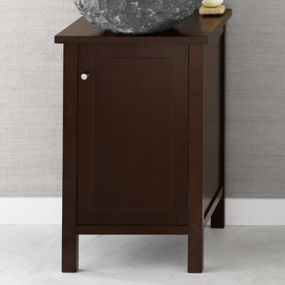 Cami 18 Single Bathroom Vanity Base Base Finish: Dark Cherry