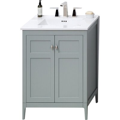 Briella 24 Single Bathroom Vanity Base Finish: Ocean Gray